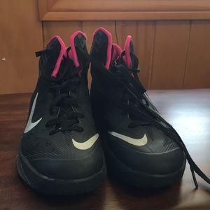 Nike men's hyper dunks pink and black size 10